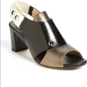 "Anyi Lu ""Athena"" genuine leather silver sandals"